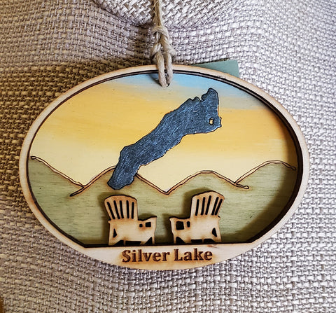 Silver Lake Ornament