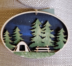 Tent Under the Stars Ornament