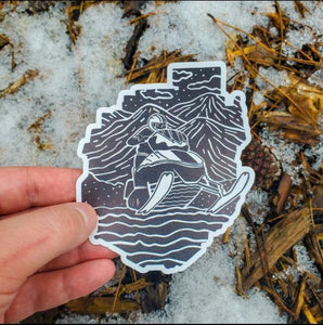 Adirondack Snowmobile Decal