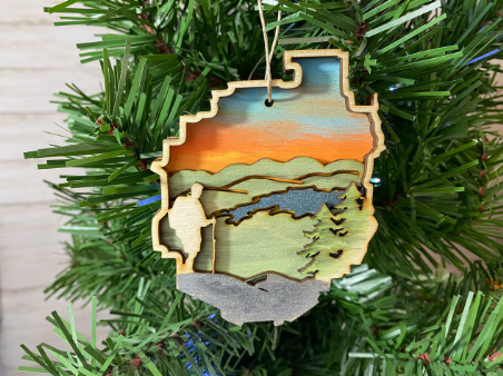 Adirondack Park with Hiker Ornament
