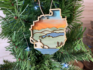Adirondack Park with Kayaker Ornament