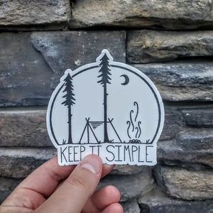Keep it Simple Decal - Tent