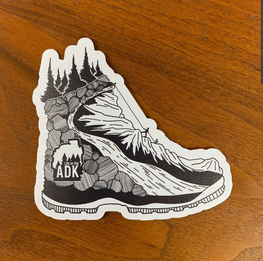 Hiking Boot Decal