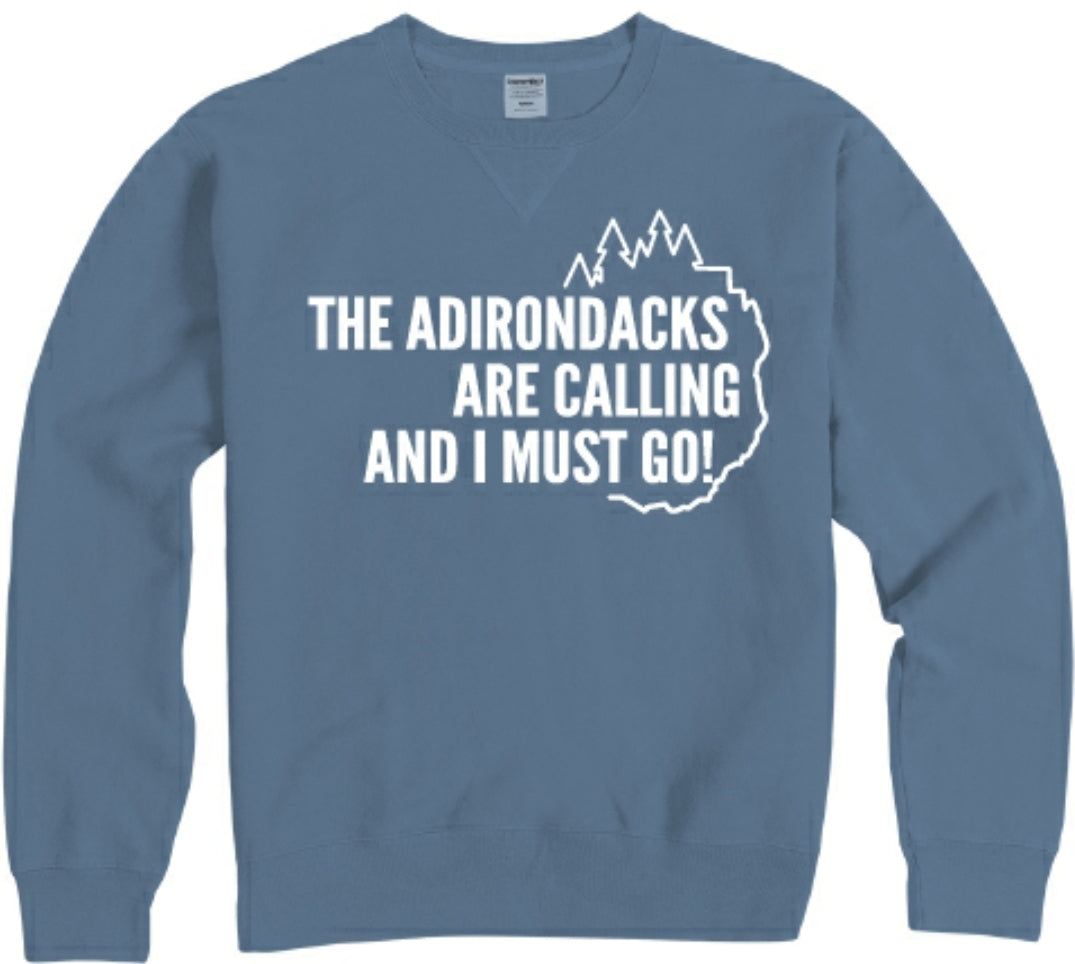 Adirondacks Are Calling Crew Sweatshirt