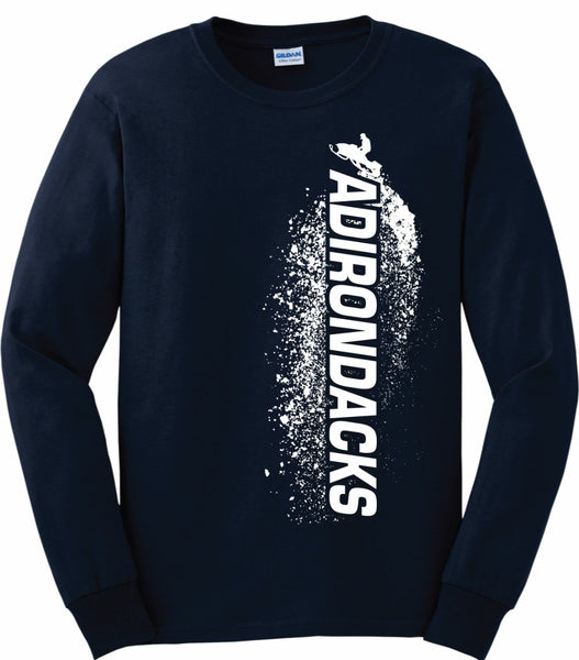 Adirondacks Snowmobiling - Long Sleeve Shirt