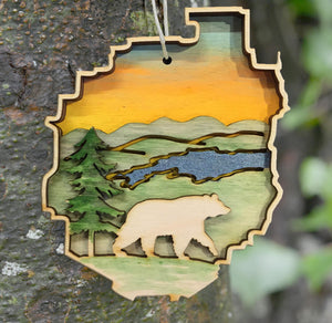 Adirondack Park with Bear Ornament
