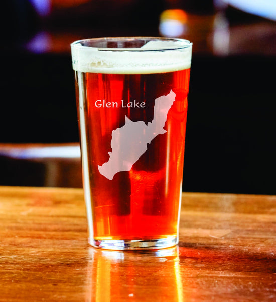 Create My Lake Pint Glass