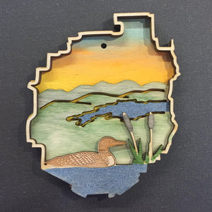 Adirondack Park with Loon Ornament