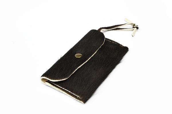 Leather Card and Coin Purse - Hair On Hide