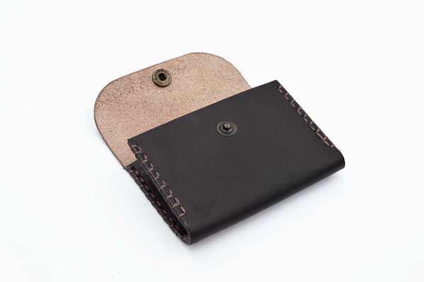 Handmade Leather Card and Coin Purse