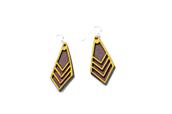 Leather Earrings - Dangly Geometric