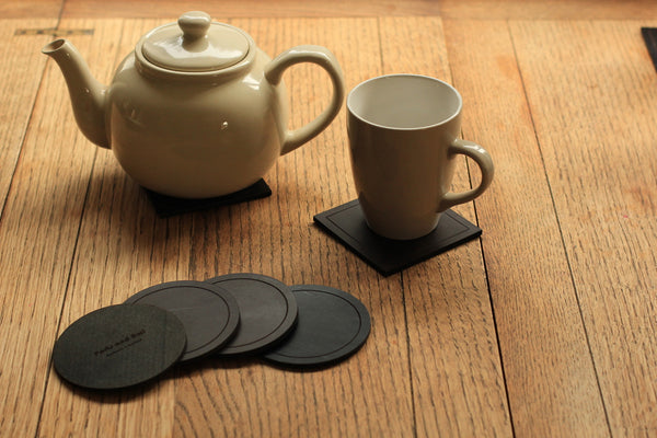 Leather coasters - Set Of Four