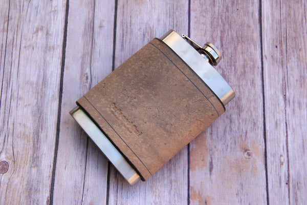 Leather Hip Flask - 8oz