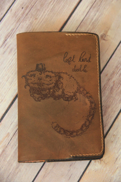 Leather Notebook Cover with Artwork From Natasha Withington