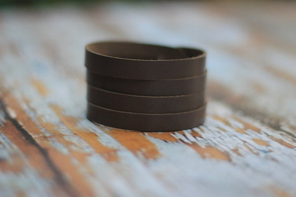 Leather Slashed Cuff