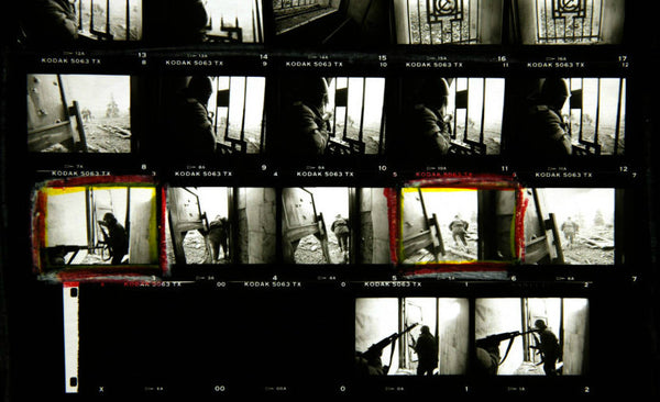 Chechen Fighters, Contact Sheet, Grozny, Chechen Republic (Russia), 1995.