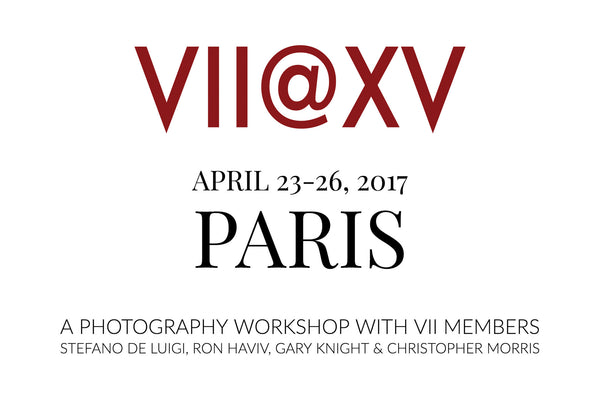 15th Anniversary Photography Workshop with VII's Stefano De Luigi, Ron Haviv, Gary Knight and Christopher Morris