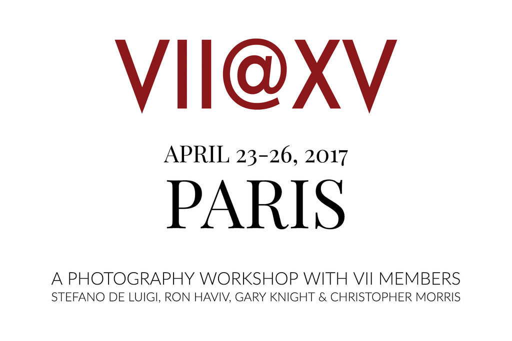 Join VII this April in Paris for a 4-day workshop with 4 of the founding members of VII.
