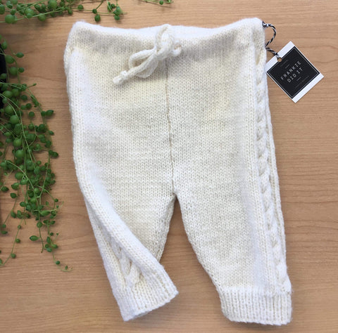 Hand Knitted Cable Leggings | NZ Wool