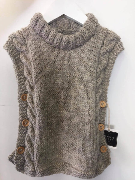 Hand Knitted Vests | NZ Wool | 2/3 yrs and 4/5 yrs