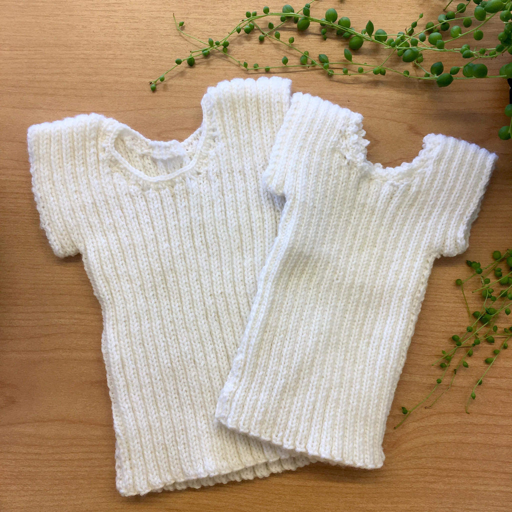 Traditional Knitted Singlet | NZ Merino Wool | Hand Knitted