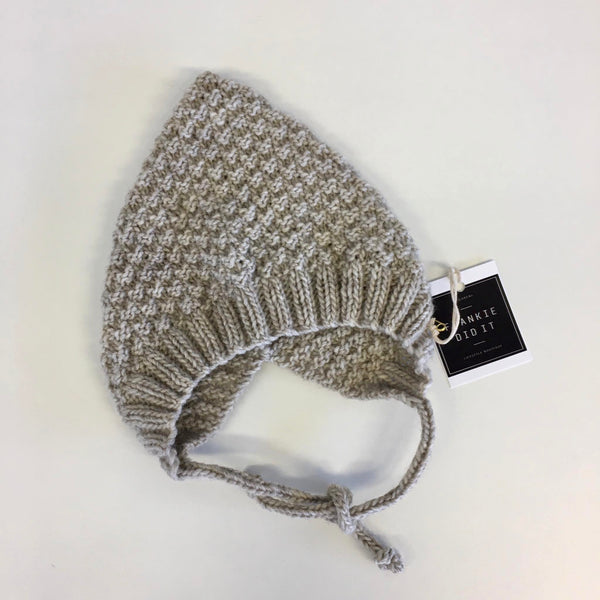 Beehive Pixie Bonnet | NZ Wool | Hand Knitted | 3 colours