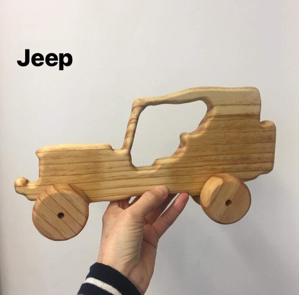 Wooden NZ Pine Vehicles | Handmade | Jeep