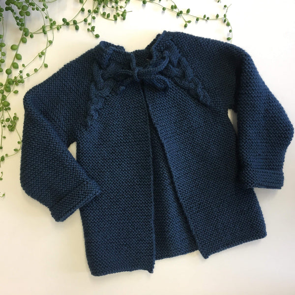 NZ Wool Knitted Cardi | Hand knitted | 2 colours | 2-4 Years