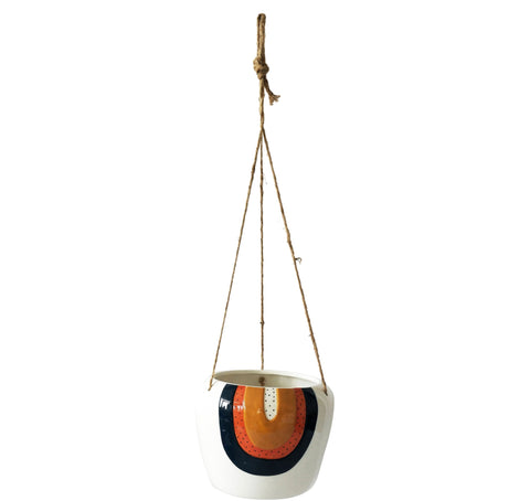 Planter - Hanging | Woodstock Rainbow | Ceramic