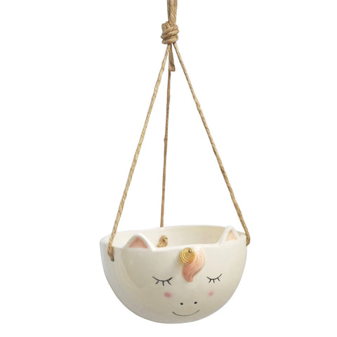 Unicorn Hanging Planter | 9cm
