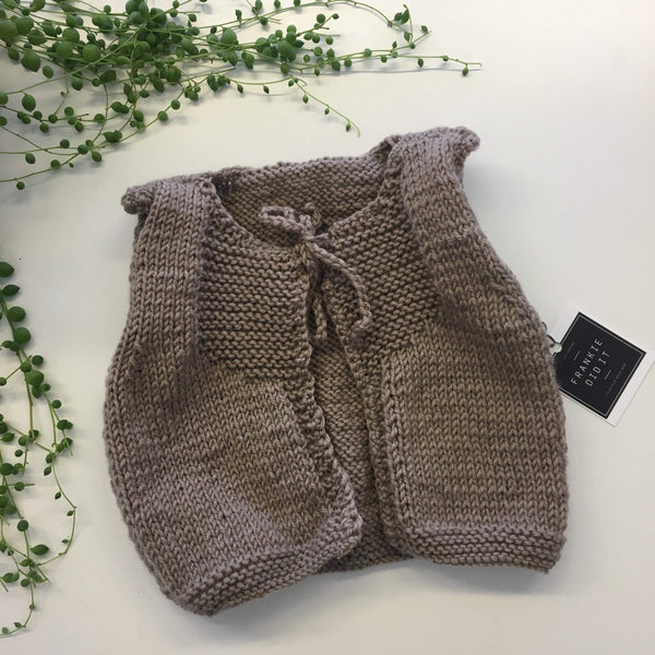 Frankie Vest | Hand Knitted | NZ Wool