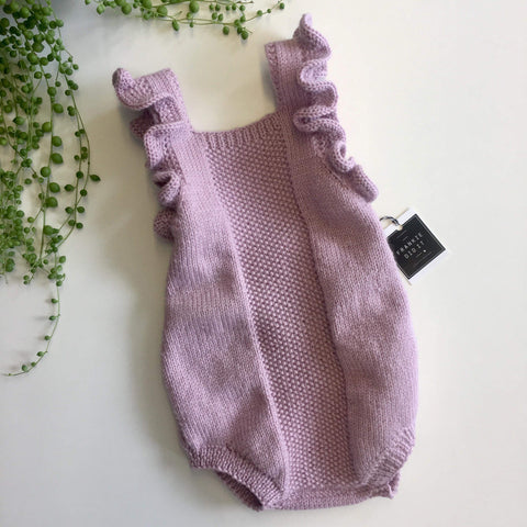 Ruffle Romper | NZ Wool | Hand Knitted in NZ