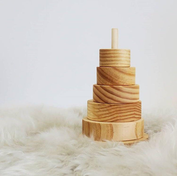 Wooden Donut Stacker | Natural