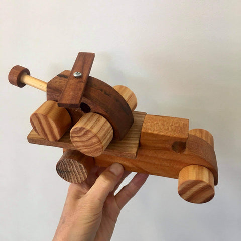 Handmade Wooden Vehicle | Truck & Helicopter