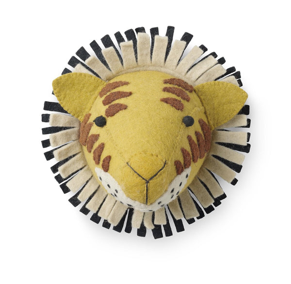 Tiger Wool Felted Head | Handmade