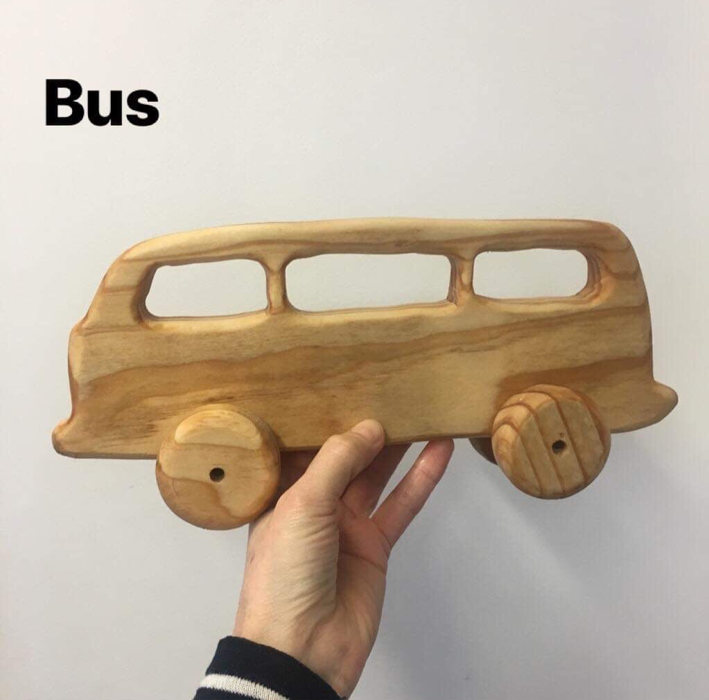 Wooden NZ Pine Vehicles | Handmade | Bus