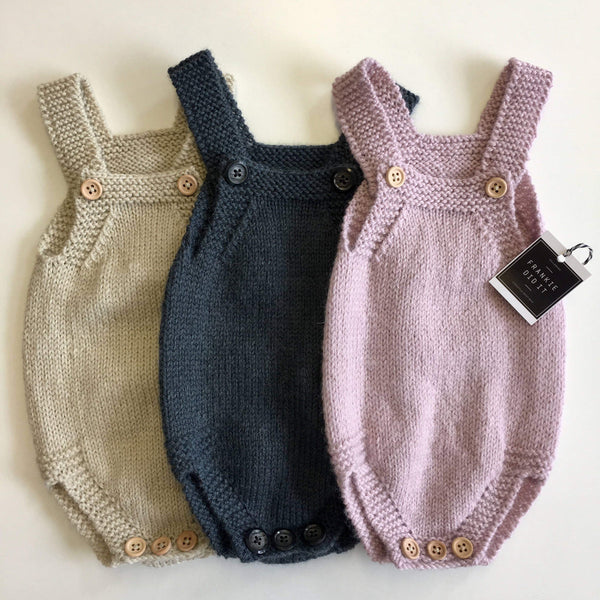 Romper | 100% pure Wool | Handknitted in NZ | 3 colours
