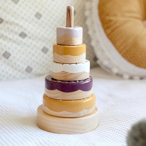 Wooden Donut Stacker | Millie