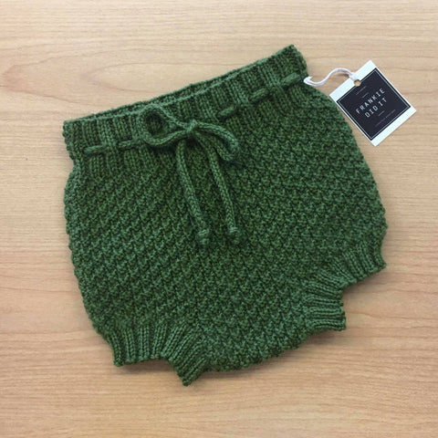 Hand Knitted Beehive Bloomer Shorts | NZ Wool