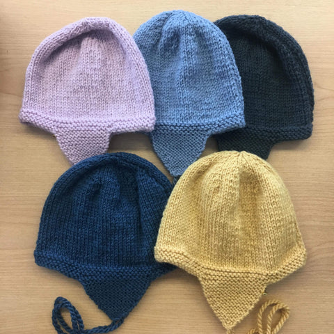 Knitted Aviator Hat | 100% NZ Wool | Handmade | 5 colours