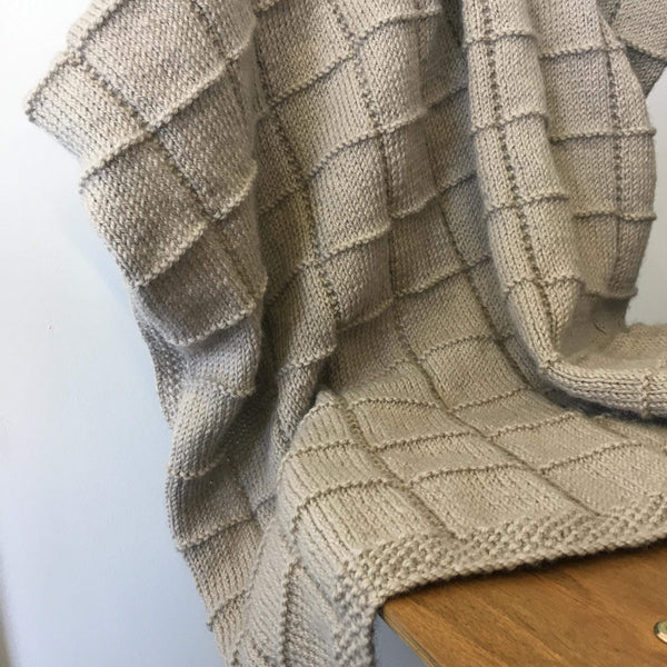 Pure NZ Wool Heirloom Blanket | Natural