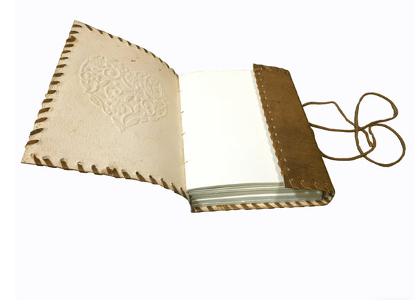 Handcrafted Leather Journal | Heart | Brown