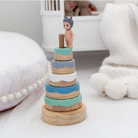 Wooden Donut Stacker | Mint
