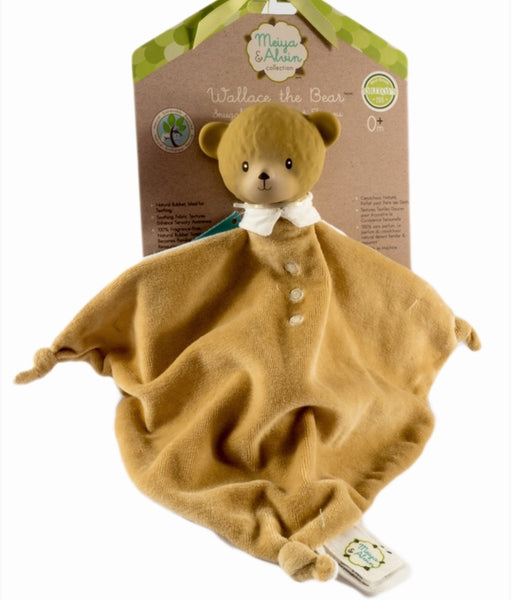 Wallace the Bear Comforter | Natural Rubber