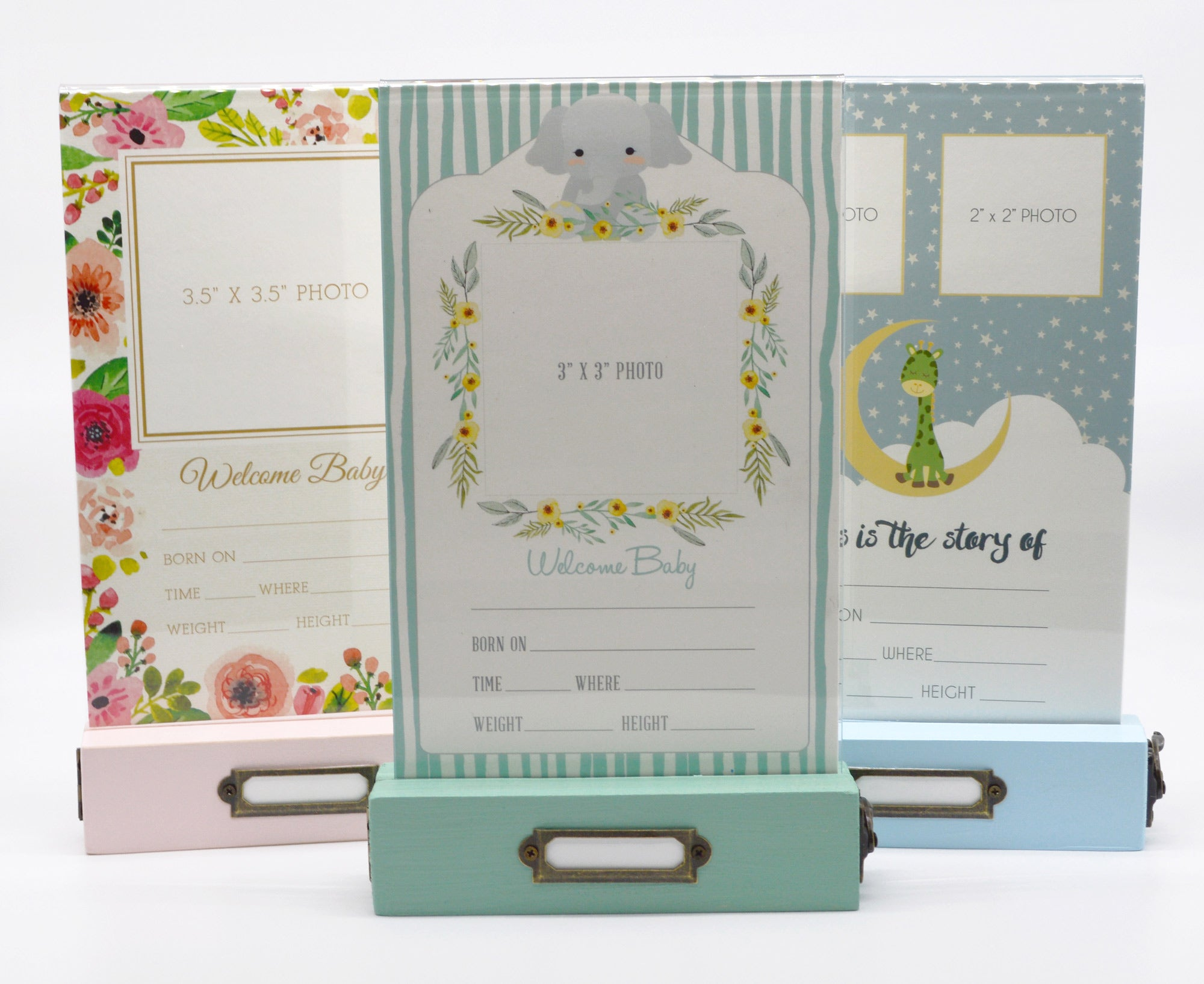 First Year Milestone Card Frames in 3 color options