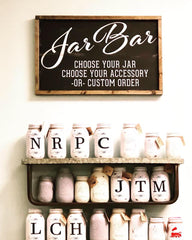 Jar Bar fun at Three Little Birds for some create your own decor