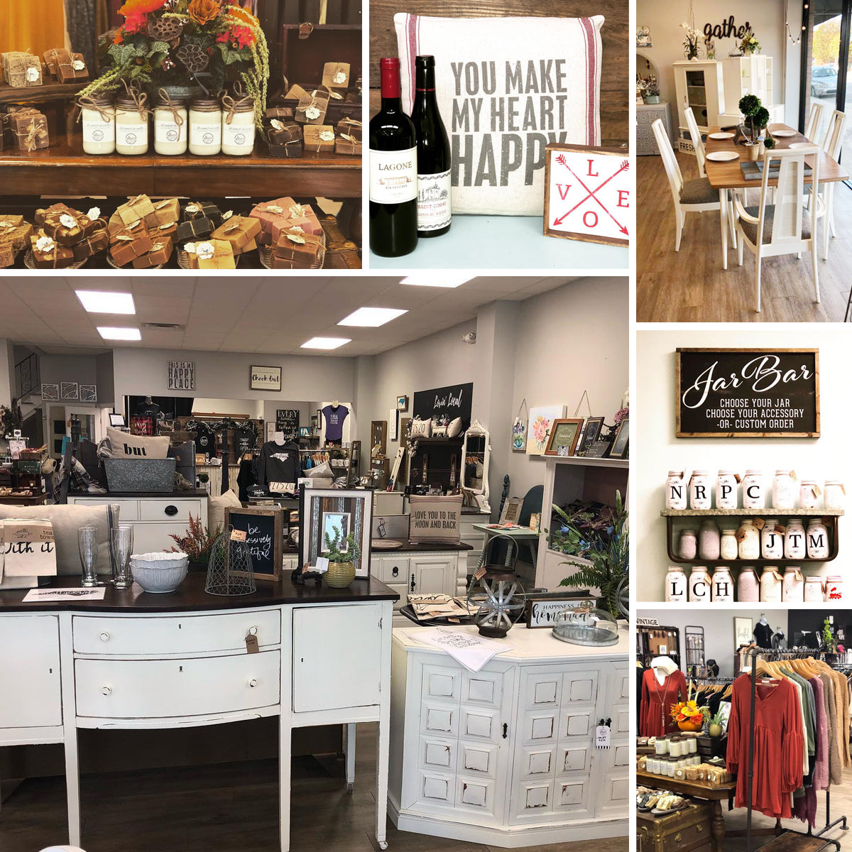 The Market at Three Little Birds is a three story hodge podge of local North Carolina artisans in Clayton