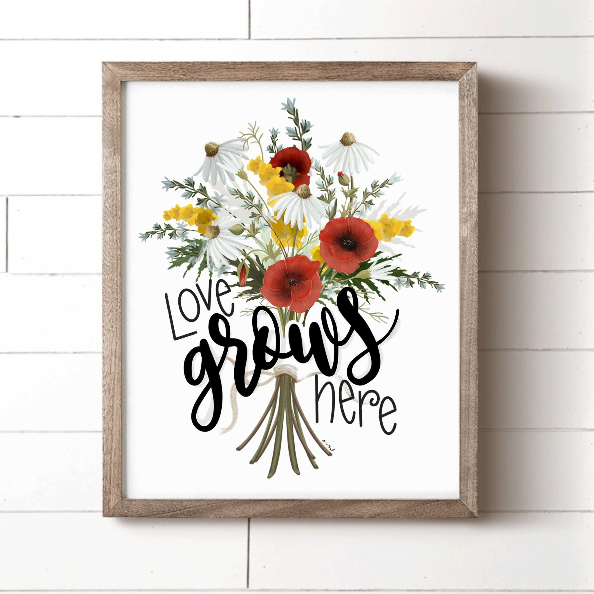 Love Grows Here Art Print created by Melissa at House Fenway