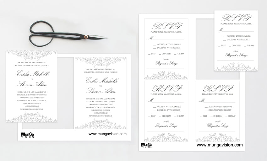 Wedding Printables Sample Image