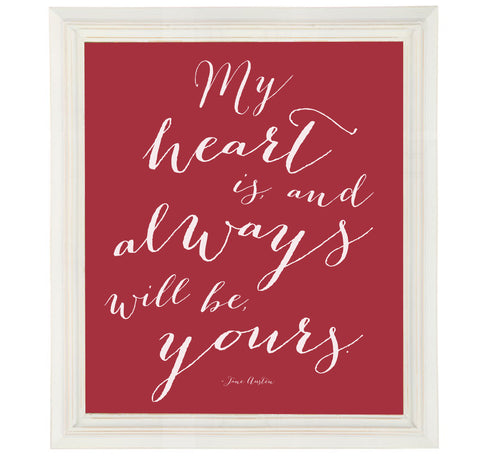 Jane Austen Quote Art Print